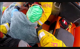 Footage of dramatic swim rescue in the Bristol Channel